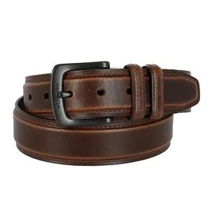 Columbia Leather Double Loop Padded Belt Size 42